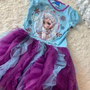 Frozen dress with tutu